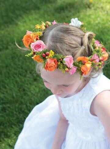 Classic flower girl halo