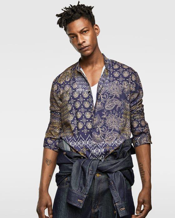 dfc6f6f8 FLORAL VISCOSE SHIRT-NEW IN-MAN   ZARA Spain Mens Printed Shirts, Men's