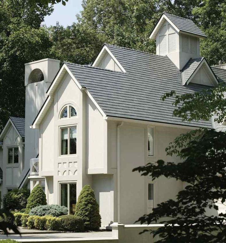 Beautiful And Long Lasting Metal Roof   Designed To Look Like Classic Slate  Or Asphalt