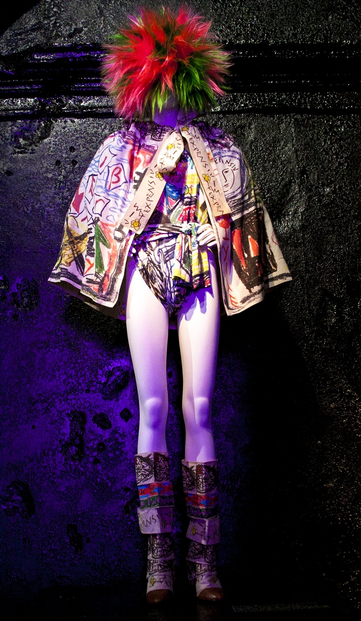 graffiti punk fashion from the Metropolitan Museum of Art's Punk Chaos to Couture Exhibit