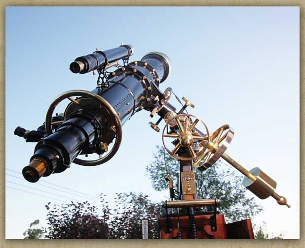 Completely love.... steampunk telescope