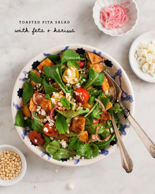 Tasty salad - feta  harissa fattoush salad | #ArtOfCheese