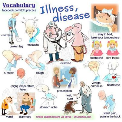 illnesses and diseases learning english pinterest