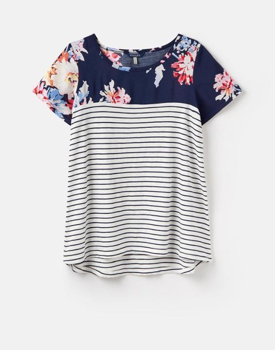 b6ccaee174636 SUZY Jersey Woven Mix T-Shirt