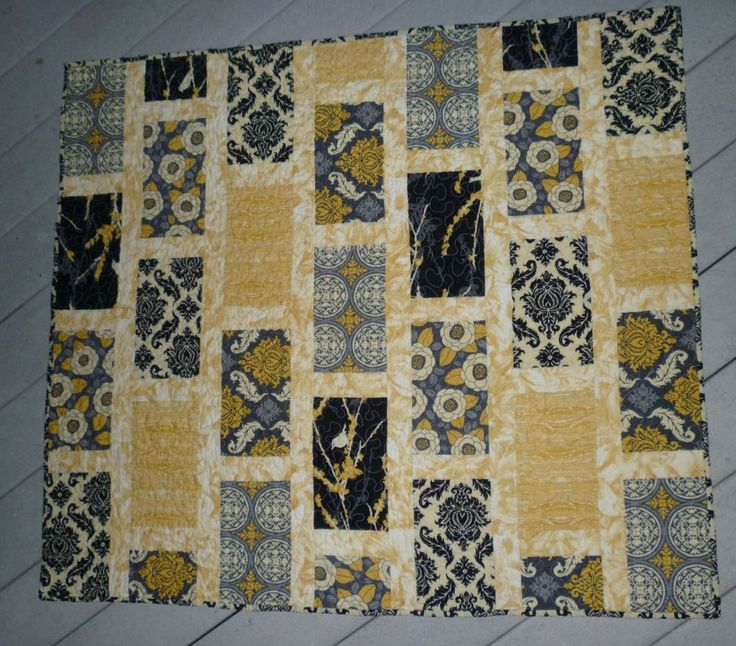 28 best quilt black yellow grey images on pinterest for Black white and gray quilt patterns