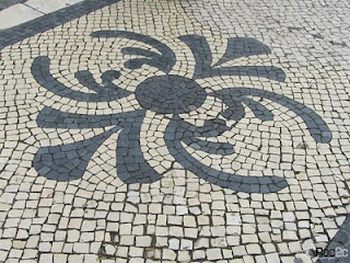 patterned stone streets in portugal