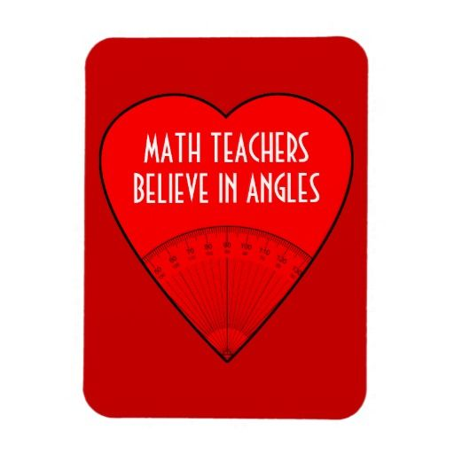 Math Teachers Believe In Angles Rectangle Magnet #magnet #mathteacher #angles #pun #funny #gift