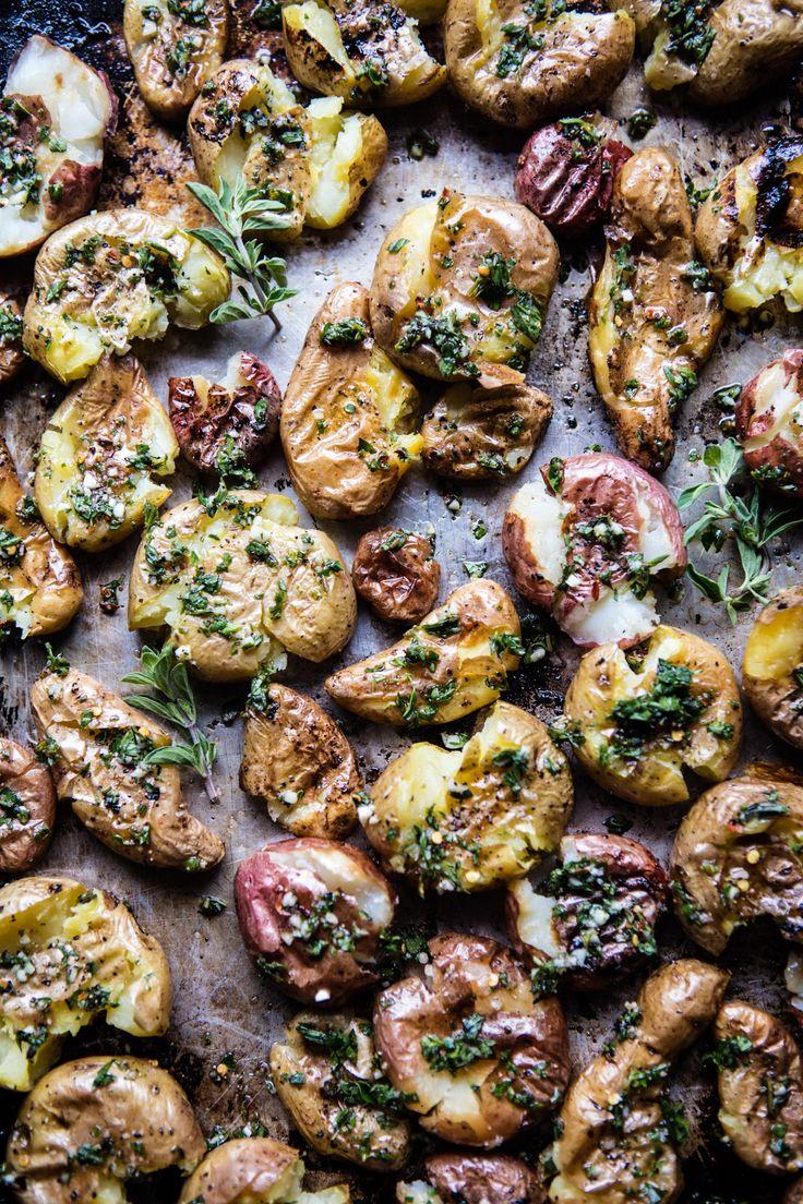 Crispy Oregano Smashed Potatoes with Feta and Lemon   halfbakedharvest.com @hbharvest
