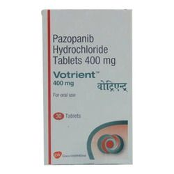 Votrient is a cancer medication that interferes with the growth of cancer cells and slows their spread in the body. Pazopanib is used to treat advanced renal cell carcinoma (kidney cancer). Pazopanib may also be used for purposes not listed in this medication guide. Votrient can lower blood cells that help your body fight infections and help your blood to clot.   img: