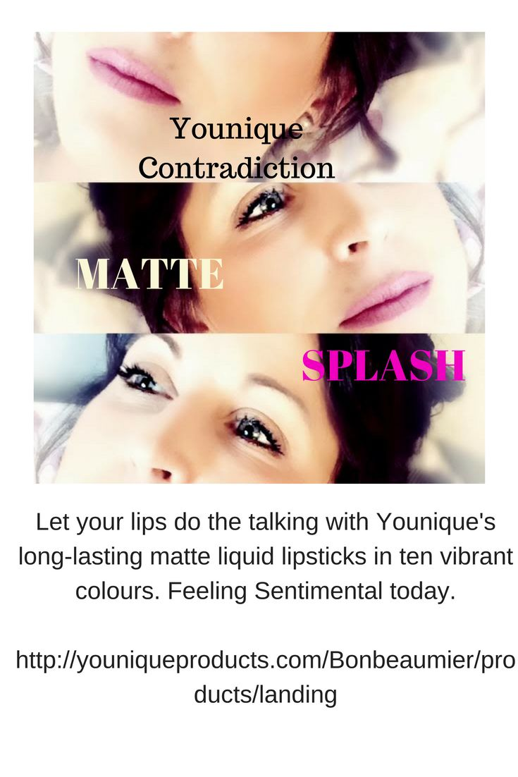 Younique's new Moodstruck Splash Liquid Lipstick let's your lips do the talking with long-lasting matte liquid lipsticks in ten vibrant colours.   http://youniqueproducts.com/Bonbeaumier/products/landing