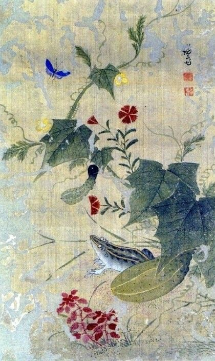 (Korea) 과전전계 by Gyeomjae Jeong Seon (1676- 1759). color on paper. ca 18th century CE.