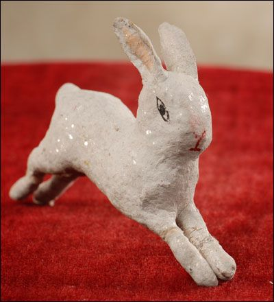 Antique Christmas ornament - RUNNING RABBIT