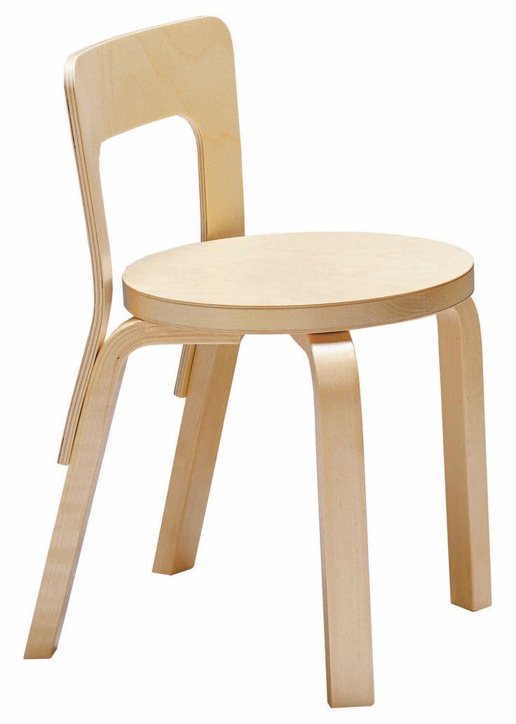 Alvar Aalto N65 stoelen idem als kruk maar met leuning