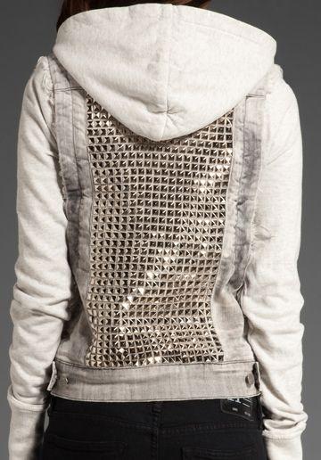 Studded hoodie.