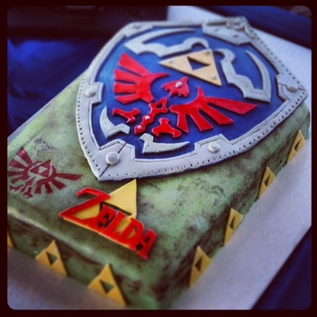 Legend of Zelda Hylian Shield Cake by browneyedgirl73.deviantart.com on @DeviantArt