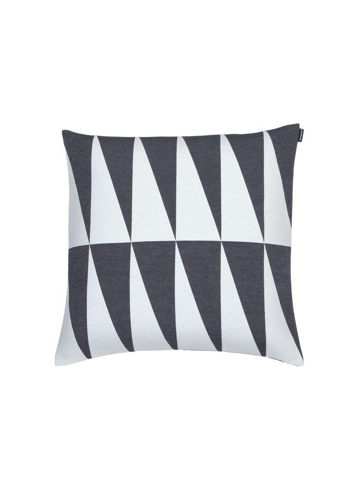 Ararat cushion cover (dark grey, off-white) |Décor, Cushion covers, Living room | Marimekko