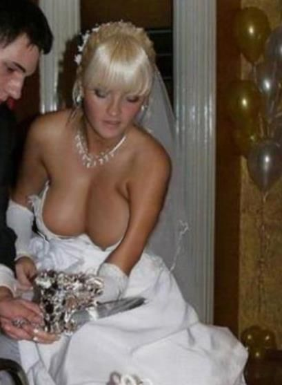 Very Nude wedding dress nipple slip remarkable, this