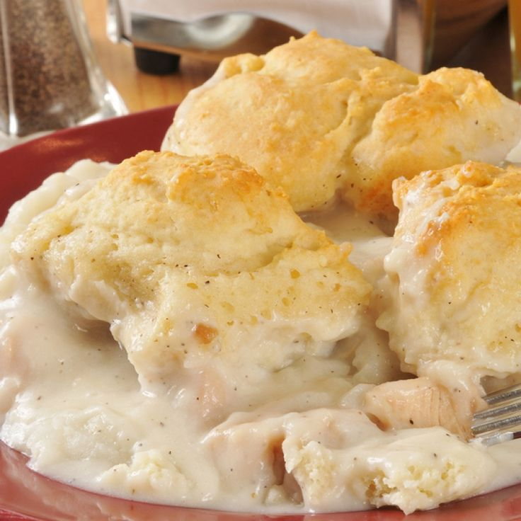 This creamy chicken and biscuits dish is one of those recipes that Grandmother's having been cooking up for many decades!