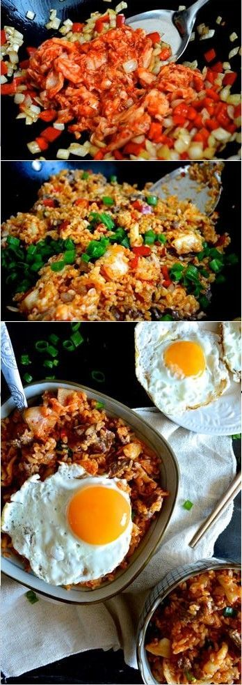 Beef Kimchi Fried Rice with Fried Egg