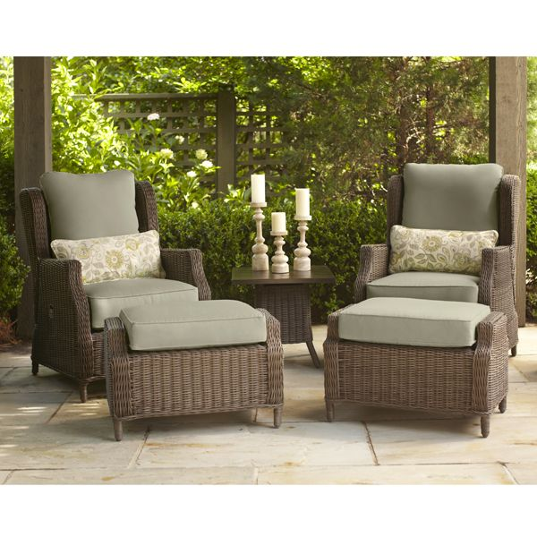 Vineyard Collection   Motion Lounge Chairs With Ottomans · Brown  JordanOutdoor ...