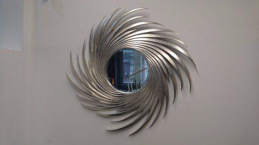 Luxusní stříbrné zrcadlo - Plzeň, prodám, design, Christopher Guy, interiér
