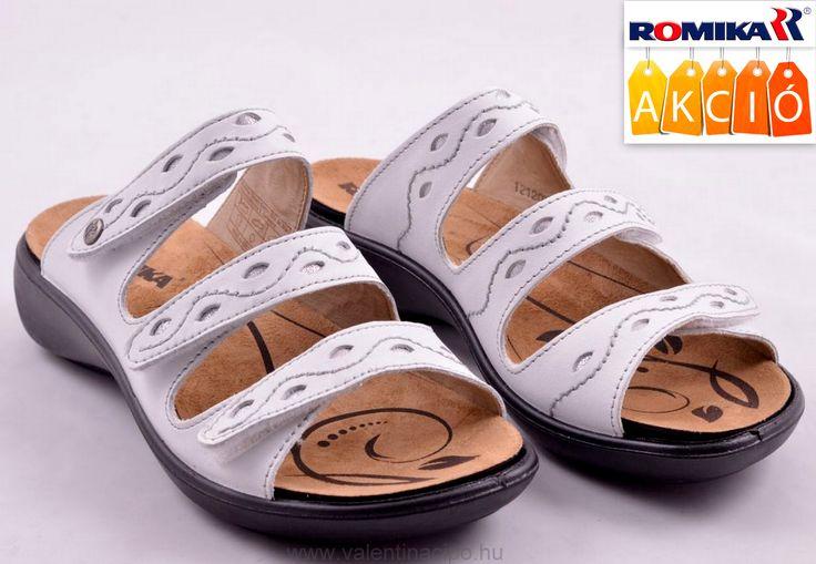 Akciós áron vásárolható vagy rendelhető ez a fehér női Romika papucs (kivehető talpbetéttel és három ponton tépőzárral rögzíthető).  http://valentinacipo.hu/romika/noi/feher/utcai-papucs/141708240  #romika #romika_papucs #Valentina_cipőbolt