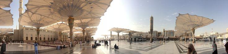 Terik siang hari Masjid Nabawi