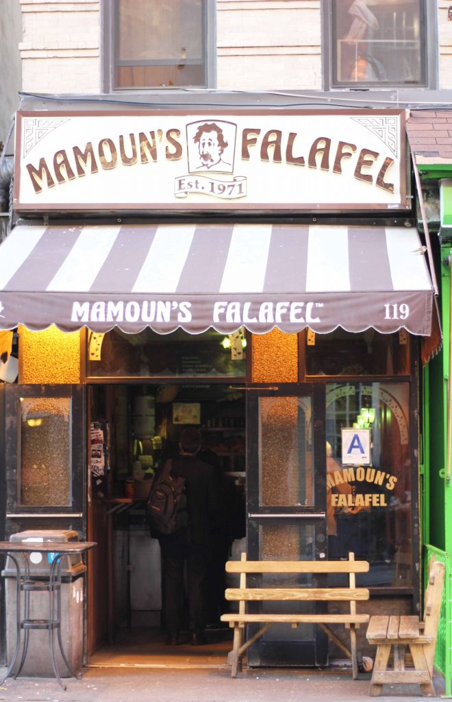 Mamouns Falafel West Village New York #NYC It's been many years since I have been here but my gosh this has got to be the best falafel place I have eaten from.