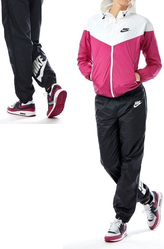 Nike Women s Windrunner Wind Runner Warmup Jacket and Pants running Set L  large 1c58fd4300