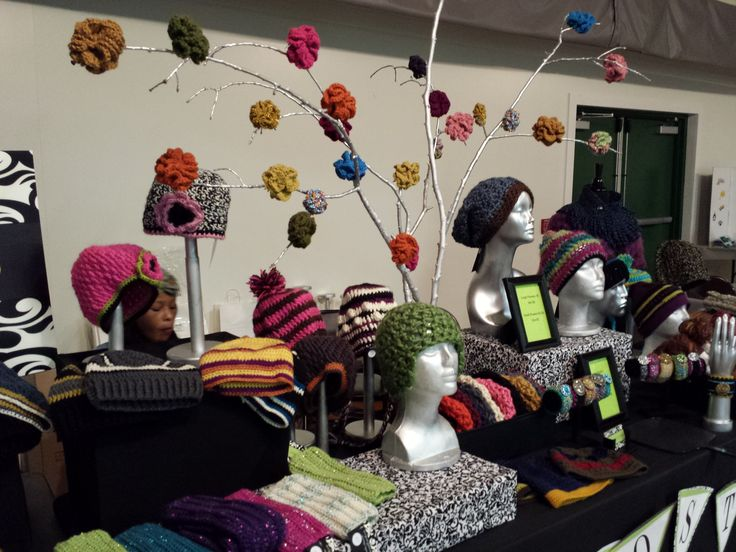 29 best crochet craft show ideas images on pinterest for Hat display ideas for craft shows