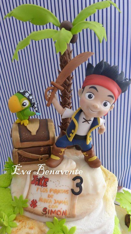 Tarta Jake y los piratas del pais de nunca jamas | Cocinar en casa es facilisimo.com