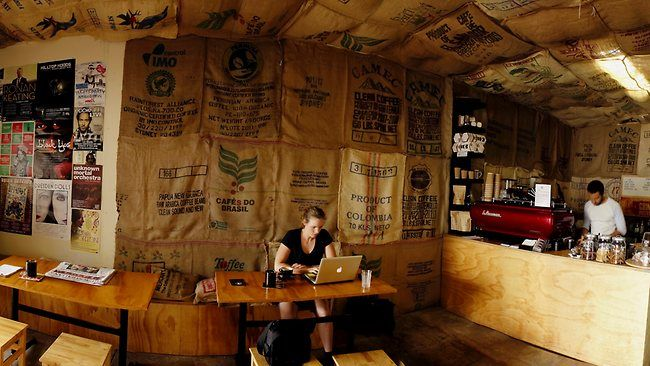 One day I will work here :-): Brisbane Rivers, Sacks, Grindhous Coffee Shops Burlap, Grindhous Coff Shops Jpg, Stones Corner, Grindhous Espresso, Rivers T-Shirt, Grindhous Coffee Shops Jpg