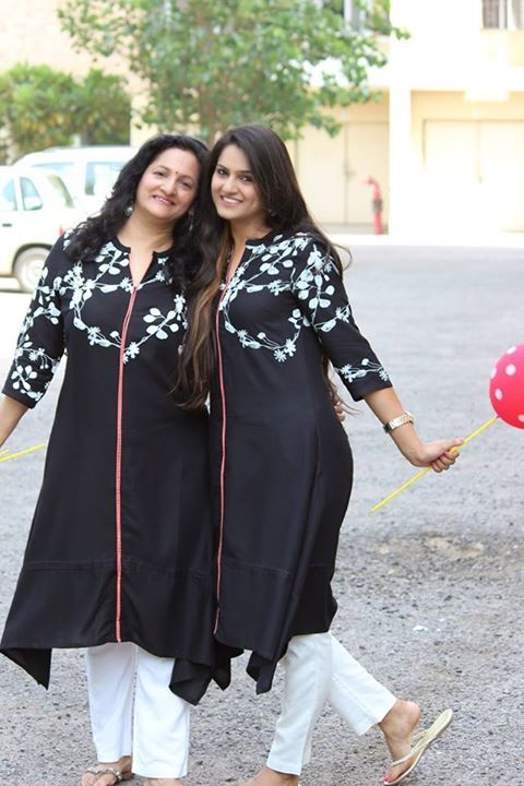 So we have this super elegant #MotherDaughter duo from Guilty Bytes featuring for our #MomsDayOut.   Love the look Ms and Mrs Malhotra are sporting? Shop this here http://www.wforwoman.com/products/ss15-latest-collection/ss15-topwear/w/fashionista-in-town/