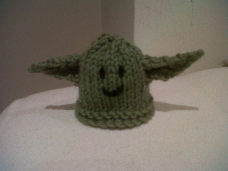 Yoda little hat for the Innocent Smoothie Big Knit for Age UK
