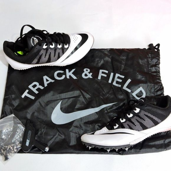 Nike Rival Running Shoes Nike's track and field running shoes, including spikes and bag. Perfect for track and field runners. They have been worn a few times but are in good condition Nike Shoes Athletic Shoes