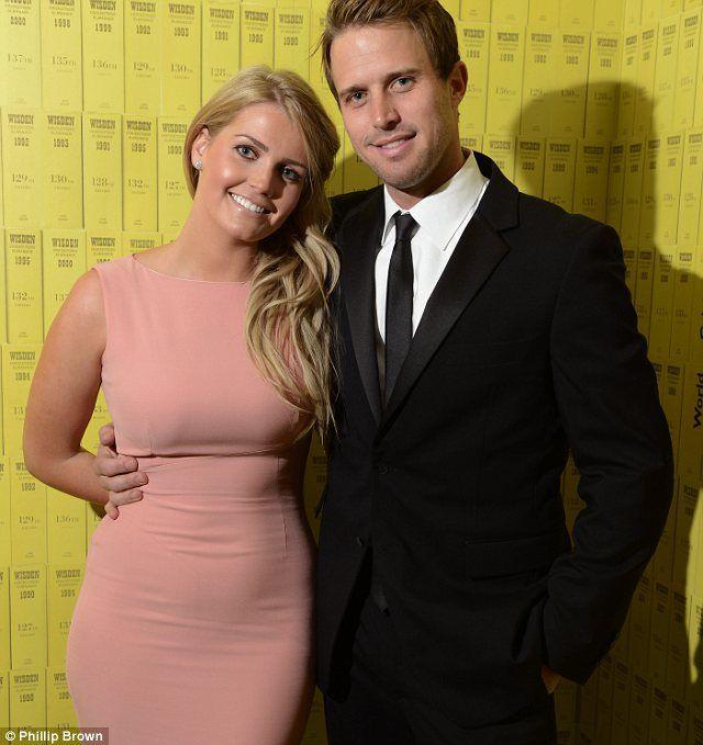 Kitty Spencer, daughter of Viscount Althorp, with her boyfriend  cricket star boyfriend Nick Compton