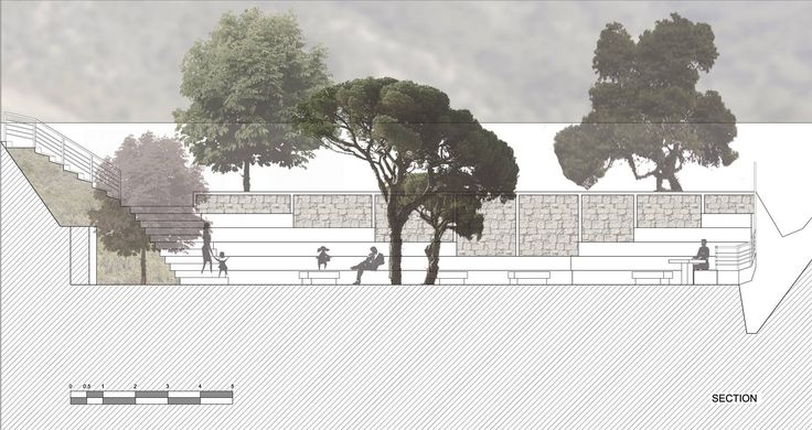 project_Transfoming an old school garden into a village park in Fokida | phase_Proposal | title_Plan | pin architecture_Petroula Sepeta◦Ioanna Chamilou◦Natasa Markopoulou | year_2010