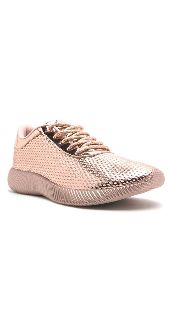 Rose Gold Rain Or Shine Sneakers Shop Here To Order Yours www.silvericing.com/sheelah