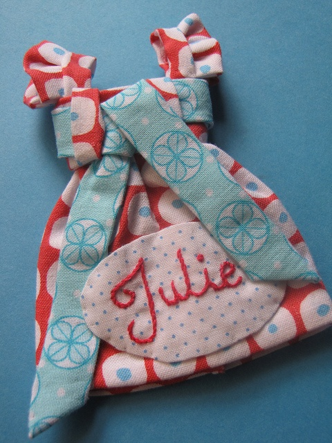 Quilted name tag This one kills me! Love!
