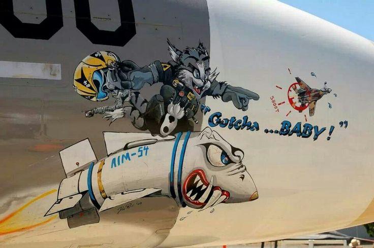 Nose Art of an F-14 Tomcat.