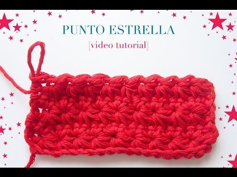 Cómo hacer el punto estrella en ganchillo | How to crochet the star stitch