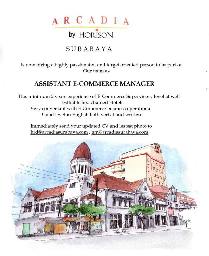 Arcadia Surabaya Needs e-eCommerce Asst Manager - Hotelier Indonesia Jobs