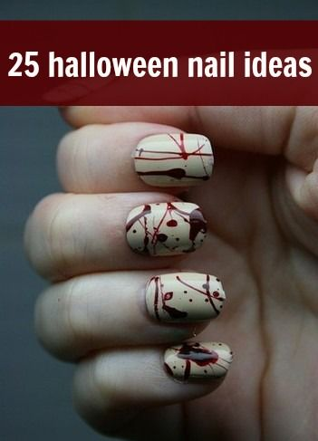 Can't wear a costume on October 31? Skip it and go for one of these nail art options instead. (via @beautyhigh)
