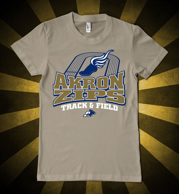 Go Zips! Akron track and field t-shirt design