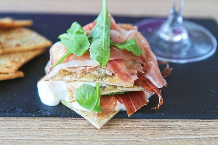 millefoglie di piadina mascia al tartufo fritta #artigianale #truffle #aperitivo #piadina #masciadelicatezze