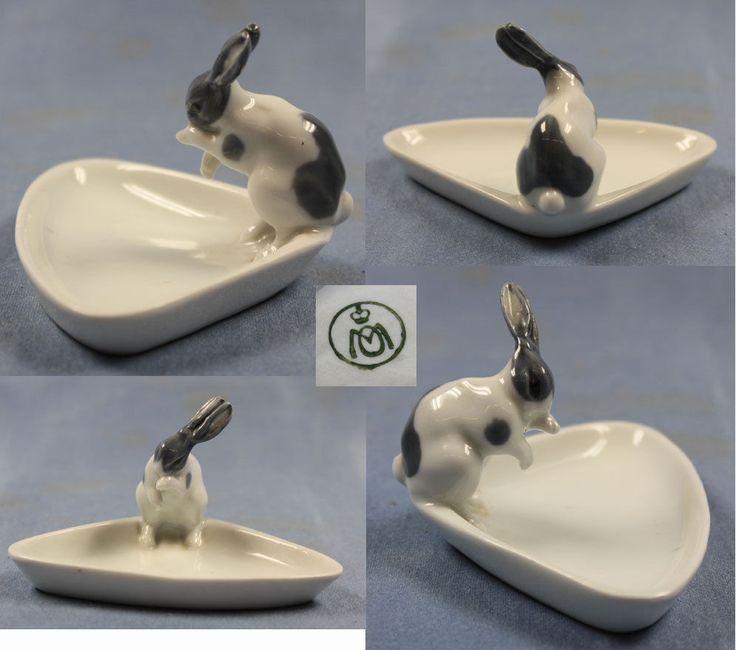 Seltener Hase auf schale Porzellanfigur rabbit metzler ortloff porzellan figur   eBay
