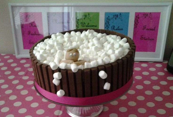 Birthday Cakes - Spa party girl