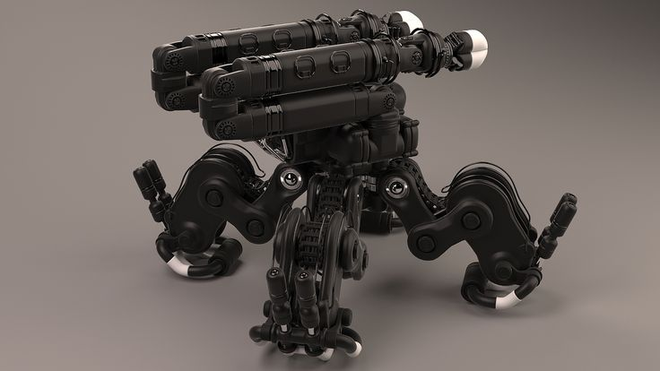 Robotic lifter 3D model - side back view