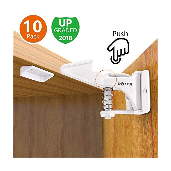 Child Safety Locks Invisible And Unlocked Design Rotek Baby Cupboard