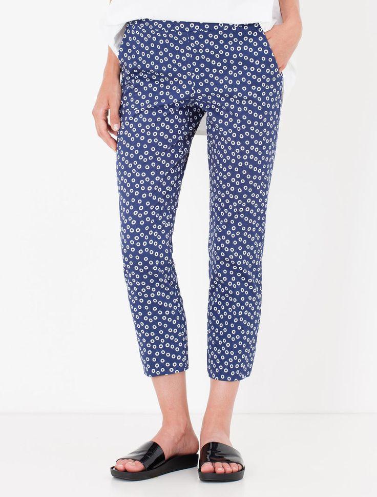 Pantaloni cropped slim di gabardine Diario - Max&Co